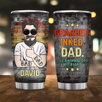 Personalized Bearded Ink Dad Custom Stainless Steel Tumbler