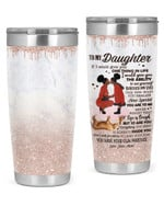 Personalized Custom Name Mom To My Daughter If I Could Give U One Thing Stainless Steel Tumbler, Tumbler Cups For Coffee Or Tea, Great Gifts For Thanksgiving Birthday Christmas