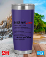 Personalized Definition Bonus Mom Name, Stainless Steel Tumbler Cup For Coffee/Tea, Great Customized Gift For Birthday Christmas Thanksgiving