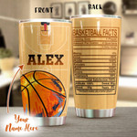 Personalized Basketball Facts  Stainless Steel Tumbler, Tumbler Cups For Coffee/Tea, Great Customized Gifts For Birthday Christmas Thanksgiving Anniversary