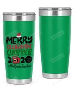 4th Grade Teacher, Merry Quarantine Christmas 2020 Stainless Steel Tumbler, Tumbler Cups For Coffee/Tea
