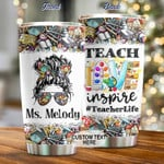 Personalized, Teach Love Inspire Stainless Steel Tumbler Cup For Coffee/Tea, Great Customized Gift For Birthday Christmas Thanksgiving