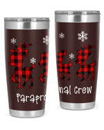 Paraprofessional, Merry Christmas Stainless Steel Tumbler, Tumbler Cups For Coffee/Tea