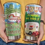Personalized Camping Happy Campers Stainless Steel Tumbler, Tumbler Cups For Coffee/Tea, Great Customized Gifts For Birthday Christmas Thanksgiving Anniversary