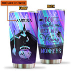 Personalized Custom Name Witch Get My Flying Monkeys Stainless Steel Tumbler, Tumbler Cups For Coffee Or Tea, Great Gifts For Thanksgiving Birthday Christmas