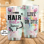 Personalized Hair Hustler Custom Name Stainless Steel Tumbler, Tumbler Cups For Coffee/Tea, Great Customized Gifts For Birthday Christmas Thanksgiving