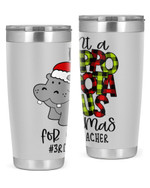 3rd Grade Teacher, Merry Christmas Stainless Steel Tumbler, Tumbler Cups For Coffee/Tea