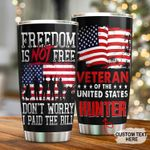 Personalized Veteran Of The United States Stainless Steel Tumbler Cup For Coffee/Tea, Great Customized Gift For Birthday Christmas Thanksgiving