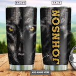 Personalized Wolf Stainless Steel Vacuum Insulated Tumbler 20 Oz, Gifts For Birthday Christmas Thanksgiving, Perfect Gifts For Wolf Lovers, Coffee/ Tea Tumbler, Black Tumbler