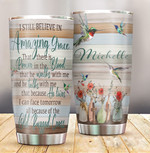 Jesus Hummingbird Personalized Tumbler Cup I Can Face Tomorrow All The Old Rugged Cross Gifts For Birthday Christmas Thanksgiving Mother's Day Gifts For Mom Birthday Gifts Mom Gifts 20 Oz Tumbler