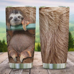 Sloth Hair,  Stainless Steel Tumbler, Brown, 20 Oz Insulated Tumbler Cup, Lovely Sloth, Perfect Gifts For Sloth Lover, Tumbler Cups For Coffee/ Tea, Great Customized Gifts For Birthday Christmas