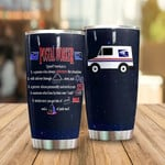 Personalized Postal Worker Definition Tumbler Stainless Steel Vacuum Insulated Double Wall Travel Tumbler With Lid, Tumbler Cups For Coffee/Tea, Perfect Gifts For Birthday Mother's Day Father's Day