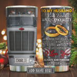 Tow Trucker Layer To My Husband Personalized Tumbler Cup, I Wish I Could Turn Back Time, Stainless Steel Vacuum Insulated Tumbler 20 Oz, Best Gifts For Husband On Birthday, Valentine, Anniversary
