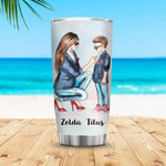 Personalized Custom Name Mom And Son Stainless Steel Tumbler, Tumbler Cups For Coffee Or Tea, Great Gifts For Thanksgiving Birthday Christmas