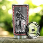 Personalized Knights Templar Tumbler A Warrior Of Christ Tumbler Cup Stainless Steel Tumbler, Tumbler Cups For Coffee/Tea, Great Customized Gifts For Birthday Christmas