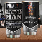 Captain Morgan Tumbler Customize Name I'm Grumpy Old Man Happy Father's Day Birthday Christmas Family Day Anniversary Special Day By Meaningful Gifts From Lovely Persons Tumbler 20oz