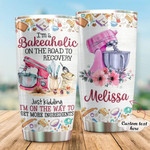 Personalized Baking I'M A Bakeaholic Stainless Steel Tumbler, Tumbler Cups For Coffee/Tea, Great Customized Gifts For Birthday Christmas Thanksgiving Anniversary