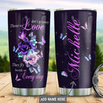 Purple Blue Butterfly Rose Personalized Tumbler Cup Those We Love Don't Go Away Stainless Steel Vacuum Insulated Tumbler 20 Oz Great Customized Gifts For Birthday Christmas Thanksgiving