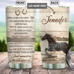 Running Horse Quote Personalized Tumbler Cup Just Remember The Ride Goes On Stainless Steel Vacuum Insulated Tumbler 20 Oz Great Customized Gifts For Birthday Christmas Thanksgiving