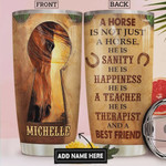 Horse Personalized Tumbler Cup A Horse Is Not Just A Horse He Is A Happiness Stainless Steel Insulated Tumbler 20 Oz Great Gifts For Birthday Christmas Thanksgiving Coffee/ Tea Tumbler With Lid