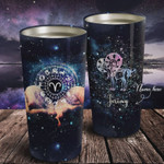 Personalized Zodiac Aries Galaxy Tumbler Stainless Steel Vacuum Insulated Double Wall Travel Tumbler With Lid, Tumbler Cups For Coffee/Tea, Perfect Gifts For Birthday Christmas Thanksgiving