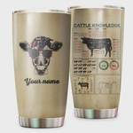 Personalized Cattle Knowledge Tumbler Cup Stainless Steel Tumbler, Tumbler Cups For Coffee/Tea, Great Customized Gifts For Birthday Christmas Perfect Gift For Farmers