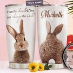 Rabbit Personalized Tumbler Cup Even The Smallest One Can Change The World Stainless Steel Insulated Tumbler 20 Oz  Great Gifts For Rabbit Lovers Best Gifts For Birthday Christmas Thanksgiving