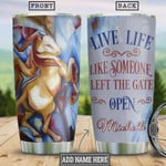 Abstract Horse Personalized Tumbler Cup Live Life Like Someone Left The Gate Open Stainless Steel Insulated Tumbler 20 Oz Travel Tumbler With Lid Great Gifts For Birthday Christmas Thanksgiving