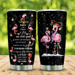 Christmas Flamingo Tumbler Cup, When You Choose Joy, Tumbler For Coffee/Tea, Stainless Steel  Insulated Tumbler 20 Oz, Great Gifts For Birthday Christmas Anniversary, Gifts For Flamingo Lovers
