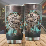 Native Wolf Dreamcatcher Tumbler Cup, Stainless Steel Insulated Tumbler 20 Oz, Best Gifts For Wolf Lovers, Tumbler Cups For Coffee/Tea With Lid, Great Gifts For Birthday Christmas Thanksgiving