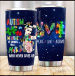 Autism Doesn't Come With A Manual It Comes With A Mother Tumbler Funny Mother's Day Gifts For Mom From Daughter Son Tumbler 20 Oz Sport Bottle Stainless Steel Vacuum Tumbler