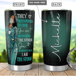 Personalized Black Nurse Feminism Tumbler They Whispered To Her You Can't Withstand The Strom Tumbler 20 Oz Sports Bottle Stainless Steel Vacuum Insulated Tumbler