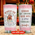 Three Sides Of A Redhead Personalized Tumbler Cup Redheads Are Sunshine Stainless Steel Vacuum Insulated Tumbler 20 Oz Great Customized Gifts For Girl On Birthday Christmas Thanksgiving