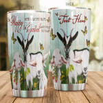 Personalized Name Goat Tumbler Be Happy With What You Have Stainless Steel Tumbler, Tumbler Cups For Coffee/Tea, Great Customized Gifts For Birthday Christmas Thanksgiving