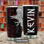 Tattoo Viking Raven Personalized Tumbler Cup Stainless Steel Vacuum Insulated Tumbler Best Gifts For Birthday Christmas Thanksgiving Coffee/ Tea Tumbler With Lid Gifts For Tattoo Viking Lovers
