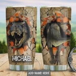 Personalized Dinosaur Break Through Tumbler Cup Stainless Steel Insulated Tumbler 20 Oz Best Gifts For Dinosaur Lovers Great Gifts For Birthday Christmas Thanksgiving Travel/ Camping Tumbler
