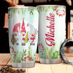 Personalized Gnome Christmas Candy Gift Christmas Tree Stainless Steel Tumbler, Tumbler Cups For Coffee/Tea, Great Customized Gifts For Birthday Christmas Thanksgiving