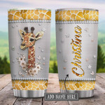 Personalized Giraffe Jewelry Style Stainless Steel Tumbler Perfect Gifts For Giraffe Lover 20 Oz Tumbler Cups For Coffee/Tea, Great Customized Gifts For Birthday Christmas Thanksgiving