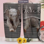 Personalized Abstract Art Elephant, Stainless Steel Vacuum Insulated, 20 Oz Tumbler Cups For Coffee/Tea, Gifts For Birthday Christmas Thanksgiving, Perfect Gifts For Elephant Lovers