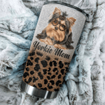 Yorkshire Terrier Tumbler Yorkshire Terrier Leopard Mom Stainless Steel Vacuum Insulated Double Wall Travel Tumbler With Lid, Tumbler Cups For Coffee/Tea, Perfect Gifts For Birthday Christmas Thanksgiving