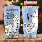 Elephant Daughter Personalized Tumbler Cup, Stainless Steel Vacuum Insulated Tumbler 20 Oz, Travel Tumbler, Great Customized Gifts For Birthday Christmas Thanksgiving, Perfect Gifts For Daughter