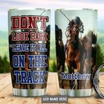 Horse Racing Personalized Tumbler Cup Don't Look Back Stainless Steel Vacuum Insulated Tumbler 20 Oz Tumbler For Coffee/ Tea With Lid Great Customized Gifts For Birthday Christmas Thanksgiving