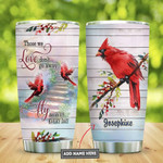 Personalized Cardinal Bird Fly Beside Us Everyday Tumbler Cup Stainless Steel Vacuum Insulated Tumbler 20 Oz Tumbler Remembrance Great Customized Gifts For Birthday Christmas Thanksgiving
