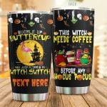 Personalized Bucke Up Buttercup Halloween Flamingo Tumbler This Witch Needs Coffee Tumbler Best Gifts For Halloween 20 Oz Sports Bottle Stainless Steel Vacuum Insulated Tumbler