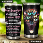 Personalized Butterfly To My Granddaughter You Are My Granddaughter From Grandma Tumbler Stainless Steel Tumbler, Tumbler Cups For Coffee/Tea, Great Customized Gifts For Birthday Christmas  Anniversary