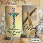 Faith Hummingbird Personalized Faith In God Stainless Steel Vacuum Insulated Tumbler 20 Oz Gifts For Birthday Christmas Thanksgiving Perfect Gifts For Hummingbird Lovers Coffee/ Tea Tumbler