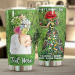 Personalized Garden I Garden I Drink And I Know Things Stainless Steel Tumbler, Tumbler Cups For Coffee/Tea, Great Customized Gifts For Birthday Christmas Thanksgiving Perfect Gift For Farmer