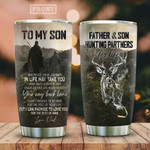 To My Son Hunting Partners Tumbler Cup Love You For The Rest Of Mine Stainless Steel Vacuum Insulated Tumbler 20 Oz Best Gifts For Son On Birthday Christmas Thanksgiving, Love Dad