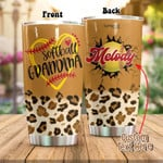 Personalized Softball Grandma Stainless Steel Tumbler, Tumbler Cups For Coffee/Tea, Great Customized Gifts For Birthday Anniversary