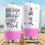 Personalized Super Mom Super Wife Stainless Steel Tumbler, Tumbler Cups For Coffee/Tea, Great Customized Gifts For Birthday Christmas Thanksgiving, Anniversary